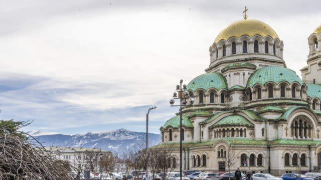timelapse  of alexander nevsky cathedral in sofia, bulgaria - dome stock videos & royalty-free footage