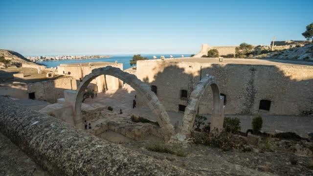 Time-lapse of Alicante Santa Bárbara Castle