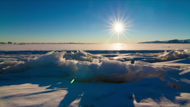 vídeos de stock e filmes b-roll de timelapse of antarctica sea ice - pólo sul