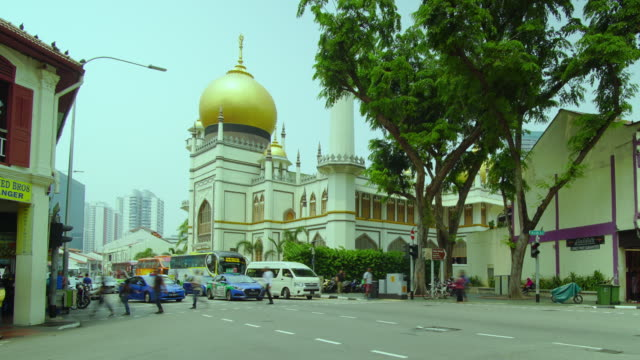 timelapse of arab street in day time, singapore - dome stock videos & royalty-free footage