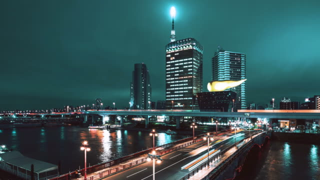 timelapse of asakusa district at dusk, japan - japan flag stock videos & royalty-free footage