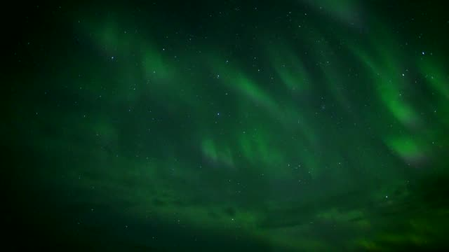 timelapse of aurora borealis or the northern light in iceland during winter - reykjavik stock videos and b-roll footage