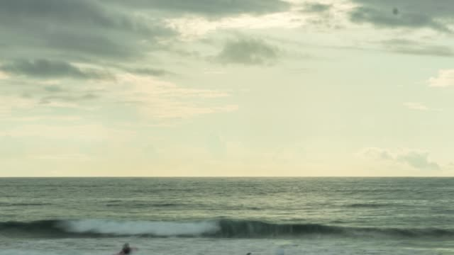 Timelapse of Beach with sun setting