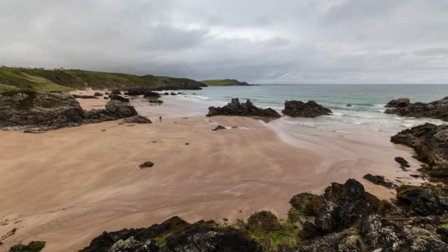 Timelapse of beautiful beach in the Scottish Highlands