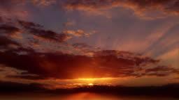 Time-lapse of beautiful sunset