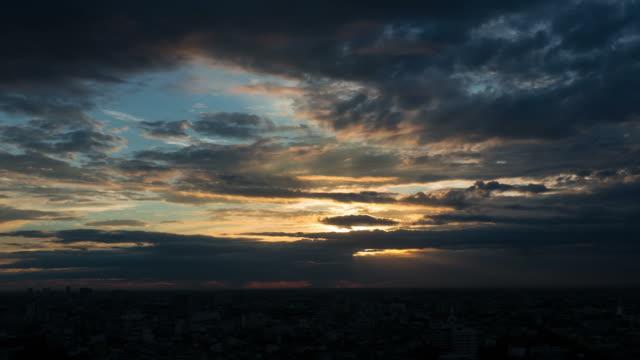 Timelapse of beautiful sunset