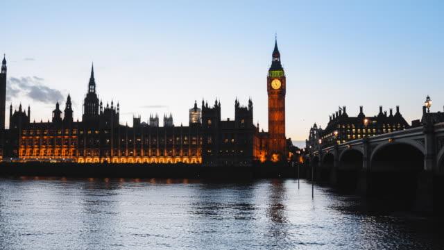 timelapse of big ben in london - uk politics stock videos & royalty-free footage