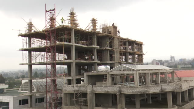 timelapse of block of flats being built in addis ababa ethiopia - flat stock videos & royalty-free footage