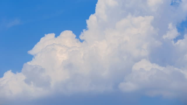 4K Time-lapse of blue sky and cloud.