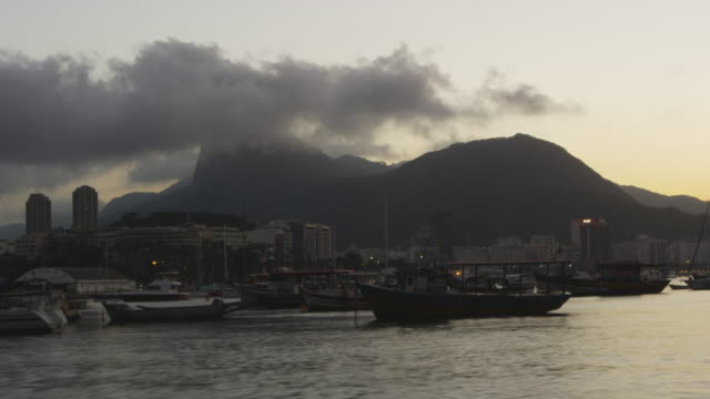 time-lapse of boats on guanabara bay in rio. - 2013 stock videos & royalty-free footage