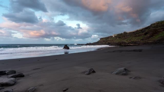 Timelapse of Bollullo beach at sunset