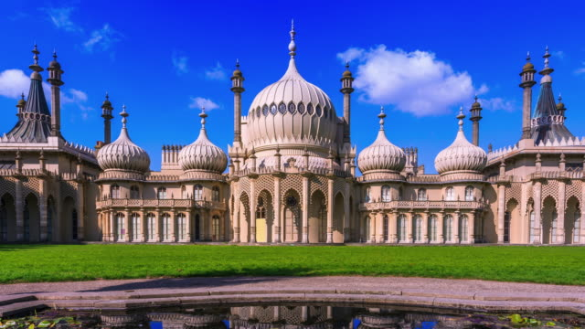 timelapse of brighton royal pavilions - brighton england stock videos and b-roll footage