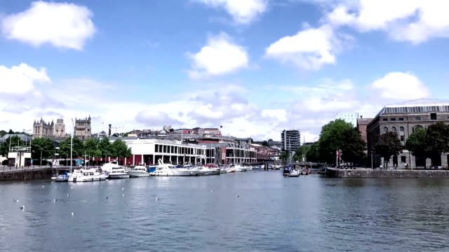 timelapse of bristol harbour - bristol england stock videos & royalty-free footage