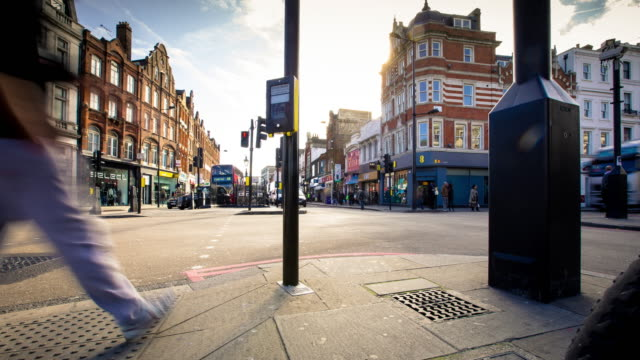 Timelapse of Busy Intersection in Camden Town, London