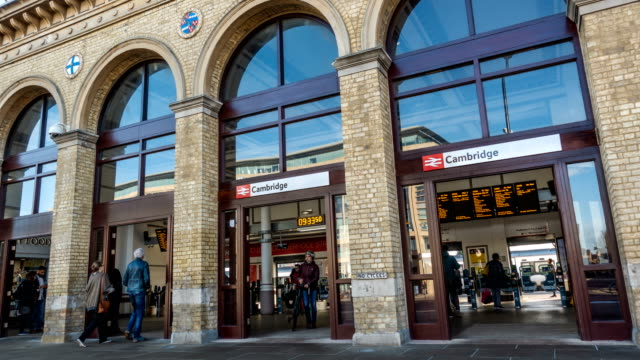 timelapse of cambridge train station - cambridge england stock videos and b-roll footage