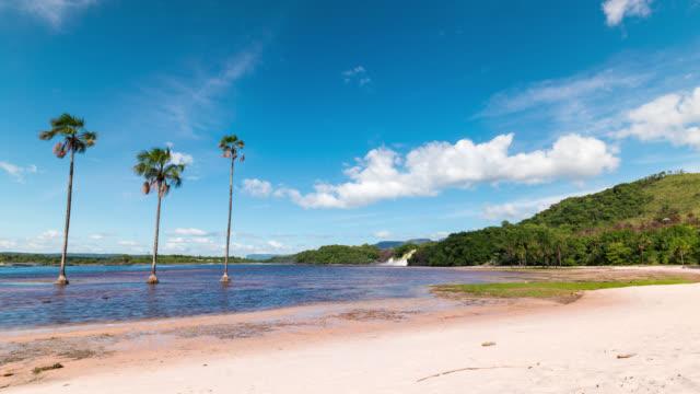 Timelapse of Canaima Lagoon in Venezuela