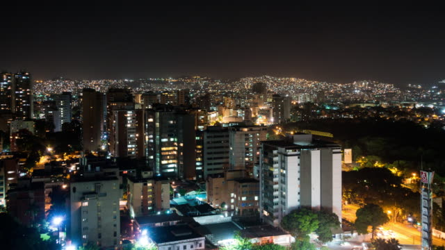 Timelapse of Caracas cityscape from rooftop