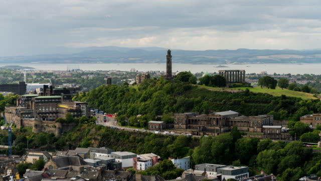 Timelapse of Carlton Hill during a sunny day in Edinburgh