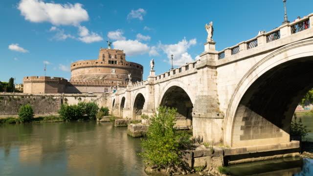 Timelapse of Castel Sant'Angelo bridge in Rome