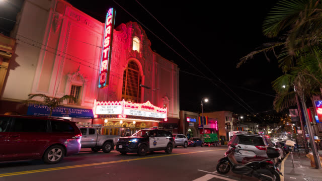 SAN FRANCISCO: TimeLapse of Castro Theatre at night