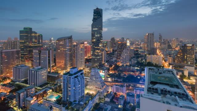 Time-lapse de landmark bangkok Thailand Central Business District, paysage urbain,