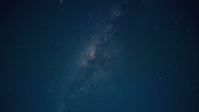 time-lapse of central milky way galaxy at indonesia - indonesia map stock videos & royalty-free footage