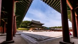 4K timelapse of  Changdeokgung, Seoul, South Korea