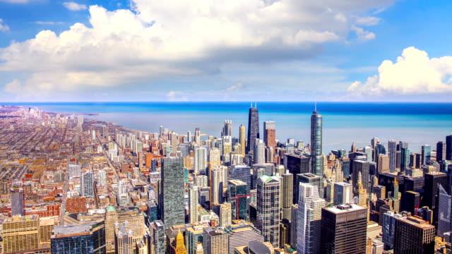 シカゴのタイムラプス - 澄んだ空点の映像素材/bロール