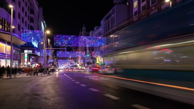Timelapse of christmas light in Madrid