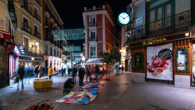 Timelapse of christmas light in Madrid