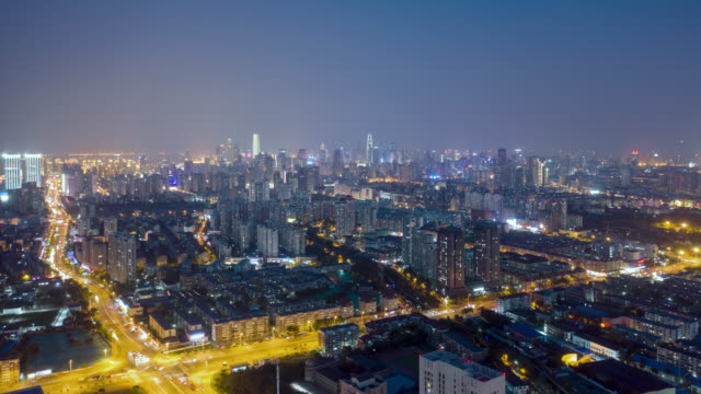 timelapse of city at night - liyao xie stock videos & royalty-free footage