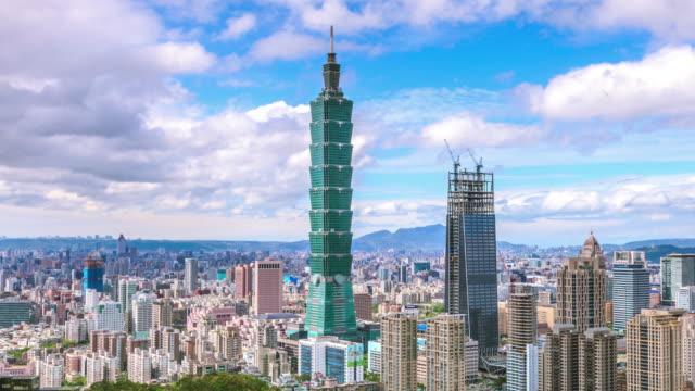 4 K Zeitraffer von Taipeh in der Morgendämmerung, Taiwan