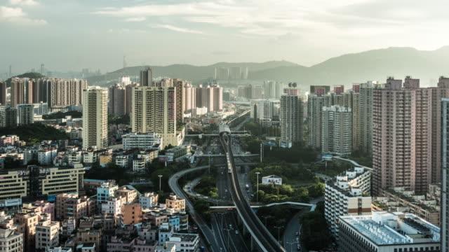 T/L WS Timelapse of city traffic /Shenzhen,China