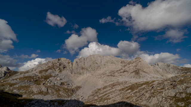 timelapse of clouds and rugged mountains in durmitor national park - durmitor national park stock videos & royalty-free footage