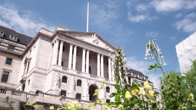 timelapse of clouds moving past bank of england london - bank stock videos & royalty-free footage