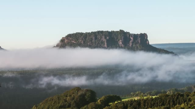 timelapse of clouds near the elbe sandstone mountains - czech republic stock videos & royalty-free footage