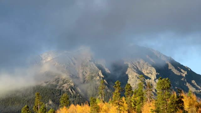 vídeos de stock e filmes b-roll de timelapse de nuvens no mountaintop - choupo tremedor