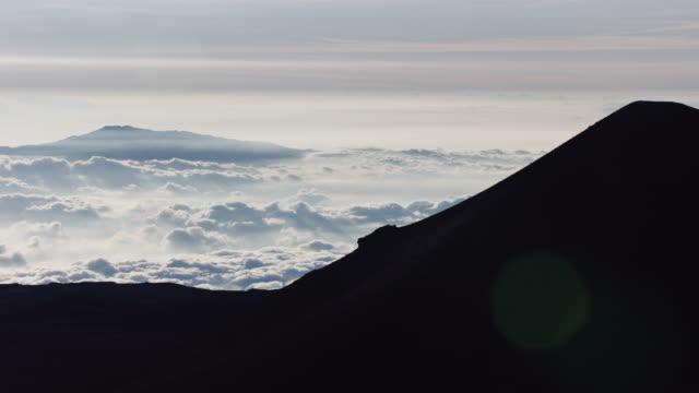 Time-lapse av moln på toppen av Mauna Kea, vulkanen på Hawaii's Big Island