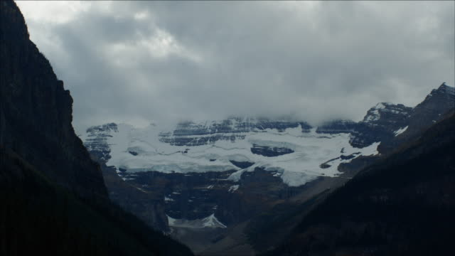 Timelapse of clouds over Mount Victoria and Glacier, Canadian Rockes
