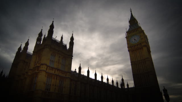 Time-lapse of clouds over Westminster and Big Ben