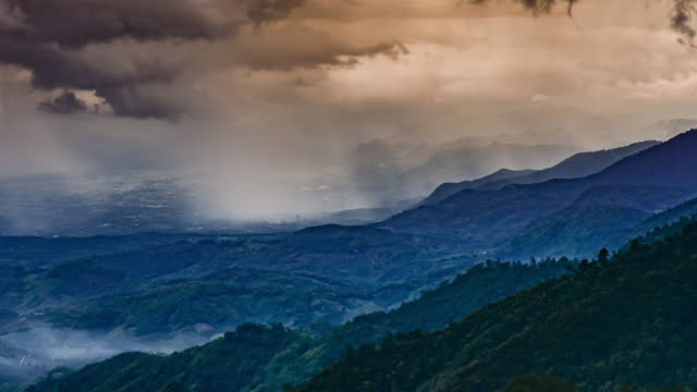 Time-lapse of Clouds storm on the mountain before raining , 4k(UHD)