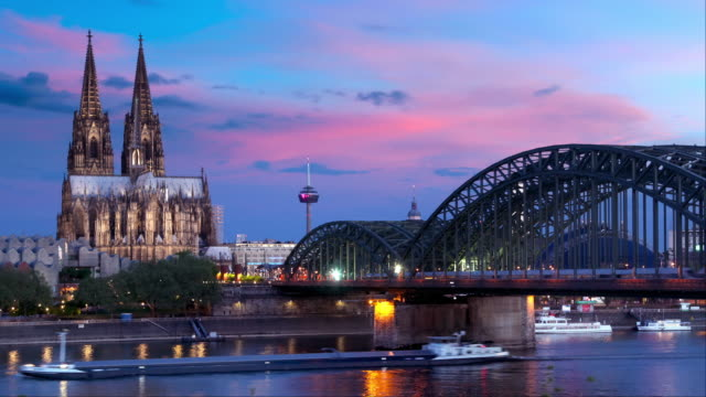 timelapse of cologne (köln) germany - gothic style stock videos & royalty-free footage
