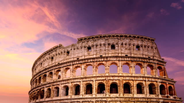 timelapse of colosseo - amphitheater stock videos & royalty-free footage