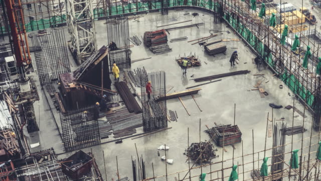 Time-lapse of construction site in Hong Kong