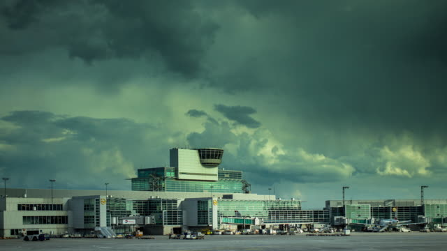 Timelapse of Control Tower at Frankfurt Airport