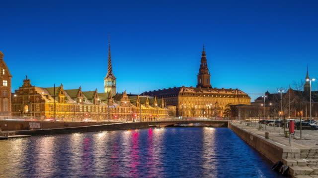 time-lapse of copenhagen denmark cityscape - scandinavian culture stock videos and b-roll footage