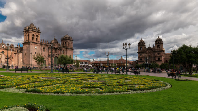 Timelapse of Cusco the main square