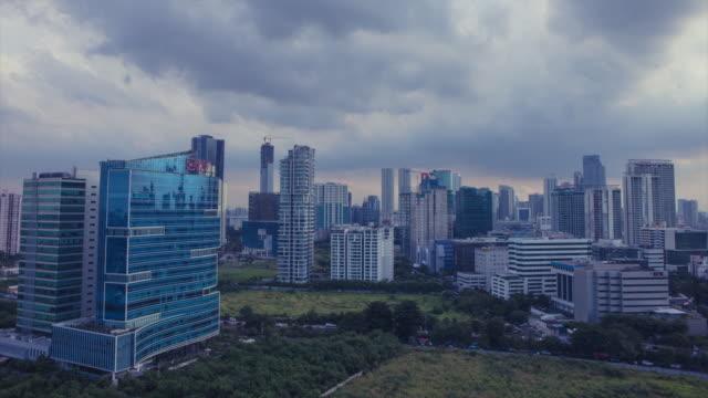 Timelapse of dark clouds in Jakarta