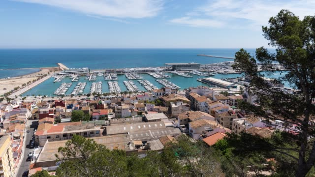 Time-lapse of Dénia town from above
