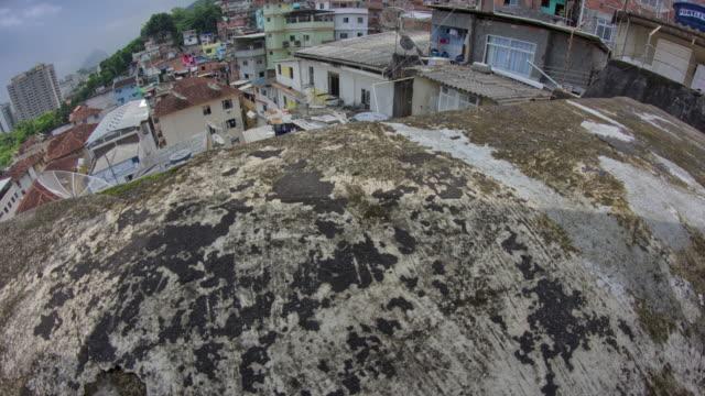 timelapse of dona marta slum - favela stock videos and b-roll footage